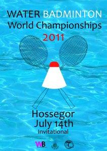 Affiche championnat du monde de Water Badminton