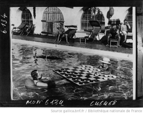 Partie de dame en aquatique