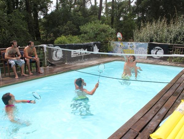 Championnat du Monde Water Badminton double 1/4 de finale
